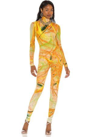 Farai London X revolve mai catsuit en color talla L en - Yellow. Talla L (también en XS, S, M).