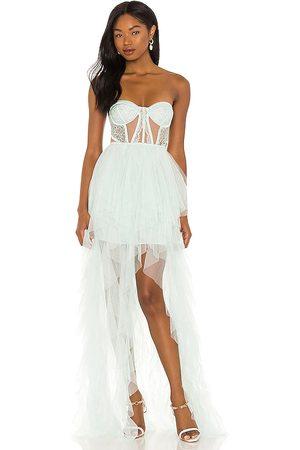 For Love & Lemons Mujer Maxi - Vestido largo en color hierbabuena talla L en - Mint. Talla L (también en S, XS, M, XL).
