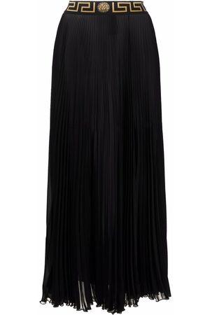 Versace Falda larga con ribete Greca