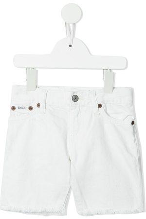Ralph Lauren Kids Shorts de mezclilla con dobladillo sin rematar
