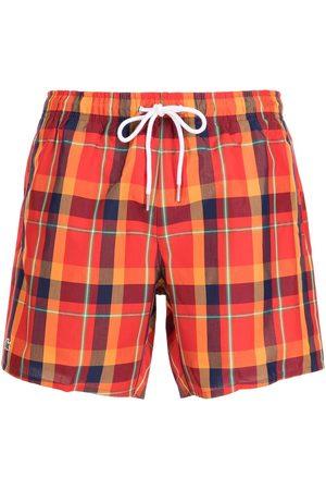 Lacoste Shorts de playa con motivo de cuadros