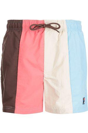 Fila Shorts de playa con diseño color block