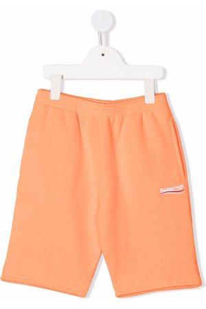 Balenciaga Niño Bermudas - Embroidered-logo shorts