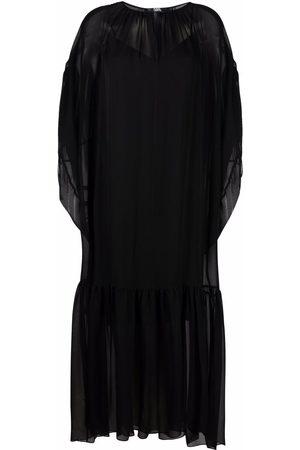 Karl Lagerfeld Vestido largo de seda