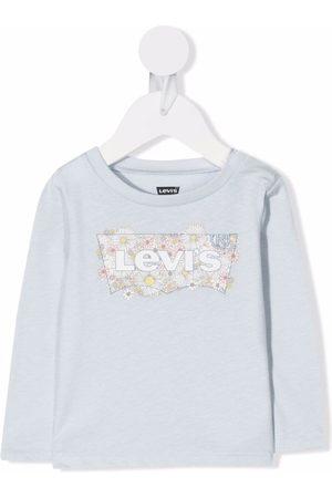 Levi's Kids Logo-print long-sleeved T-shirt