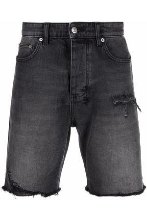 KSUBI Shorts de mezclilla con tiro medio
