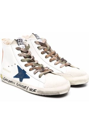 Golden Goose Kids Star-patch lace-up sneakers
