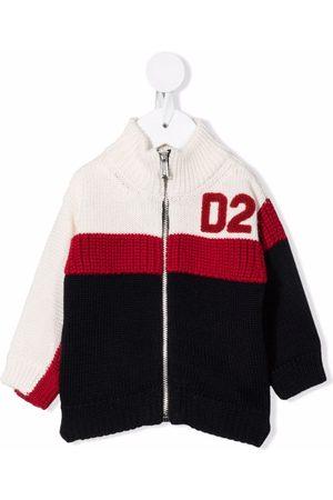 Dsquared2 Kids Cárdigans - Colour-block zip-up cardigan