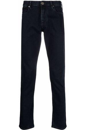 Emporio Armani Hombre Skinny - Logo-plaque detail jeans