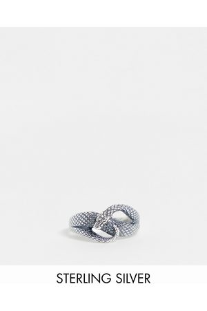 ASOS DESIGN Sterling silver ring with wrap around snake design in silver