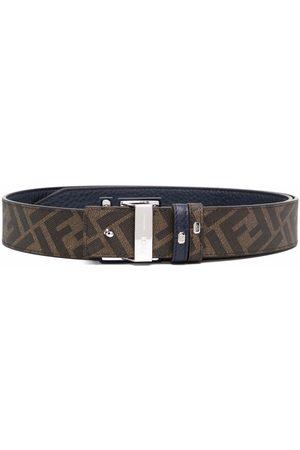 Fendi Hombre Cinturones - Reversible logo-buckle belt