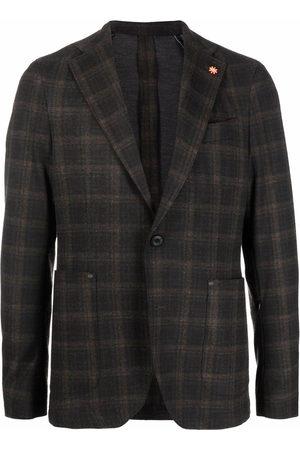 Manuel Ritz Hombre Sacos - Single-breasted checked blazer