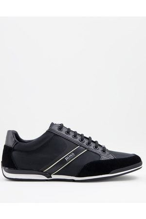 Boss Hombre Tenis - Saturn Lowp trainers in black/ gold