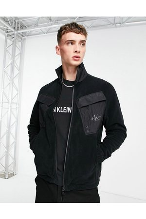 Calvin Klein Jeans Fleece overshirt in black
