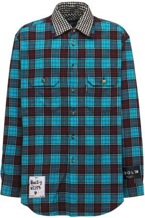 COOL Camisa Oversize Reversible De Algodón A Cuadros
