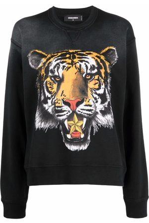 Dsquared2 Mujer Sudaderas - Tiger-print cotton sweatshirt