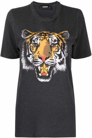 Dsquared2 Mujer Playeras - Tiger head print T-shirt