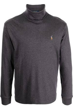 Polo Ralph Lauren Embroidered-logo roll-neck top