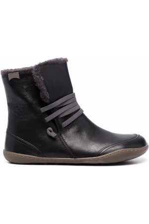 Camper Faux-fur lined leather ankle boots