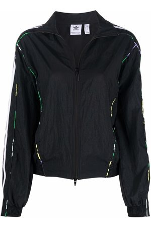 adidas Floral-piping woven track top