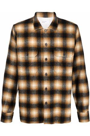 Universal Works Plaid-pattern utility shirt
