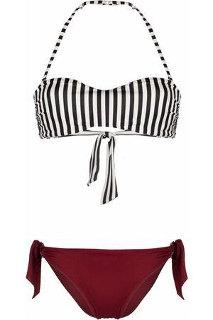 Emporio Armani Striped colour-block bikini