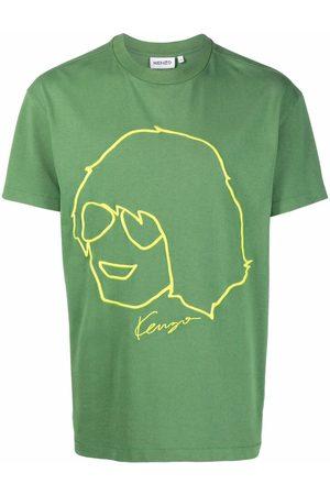 Kenzo Camiseta con retrato bordado