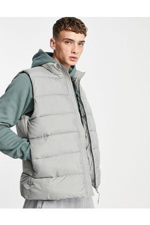 ASOS Puffer gilet in grey