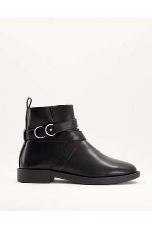 ASOS Abby flat boots in black