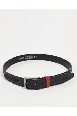 VALENTINO Hombre Cinturones - Fir belt in black with red loop