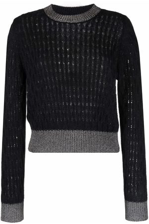 Pinko Contrast-trim knitted jumper