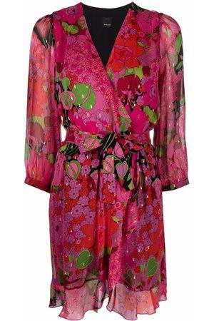 Pinko Vestido cruzado con estampado floral