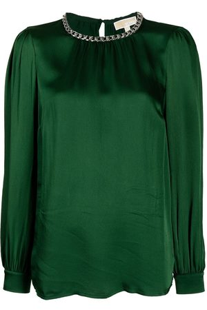 Michael Kors Mujer Blusas - Chain-link detail long-sleeved blouse