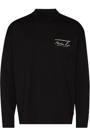 MARTINE ROSE Hombre Playeras - Logo print high-neck sweatshirt