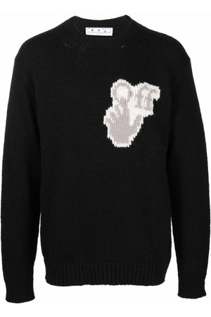 OFF-WHITE Hombre Suéteres cerrados - Hands Off logo crew-neck jumper