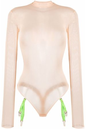 MAISON CLOSE Mesh long-sleeved bodysuit