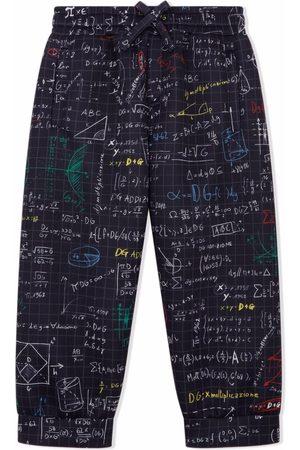 Dolce & Gabbana Niño Pantalones y Leggings - Pantalones con estampado de álgebra