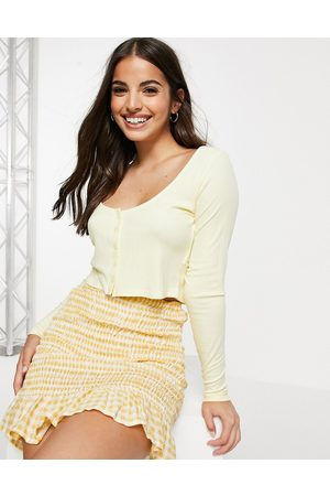 Cotton On Mujer Cárdigans - Cropped cardi in yellow