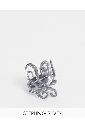 ASOS Hombre Anillos - Sterling silver ring with octopus
