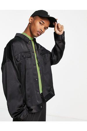 ASOS High shine western jacket in black