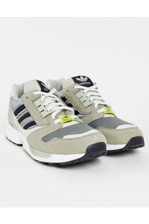adidas ZX 8000 trainers in khaki and grey