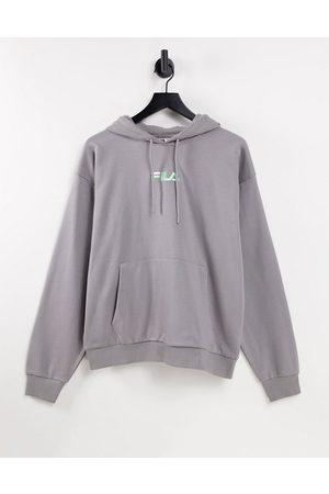 Fila Jamal chest logo hoodie in grey