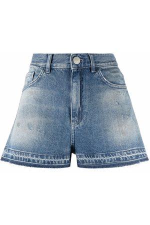 Pinko Shorts de mezclilla con tiro alto