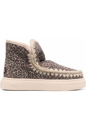 Mou Mujer Botas y Botines - Leopard-print shearling lined boots