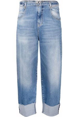 Pinko Mujer Jeans - Wide-leg cropped jeans