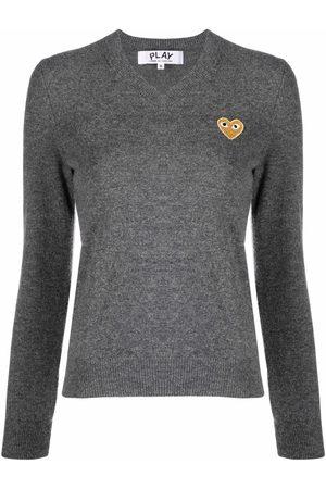 Comme des Garçons Mujer Suéteres - Suéter con motivo bordado