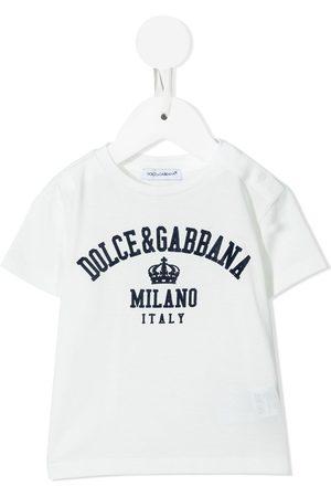 Dolce & Gabbana Playera con logo estampado