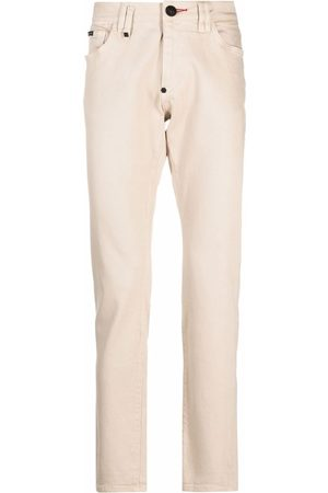 Philipp Plein Hombre Skinny - Jeans slim con placa del logo