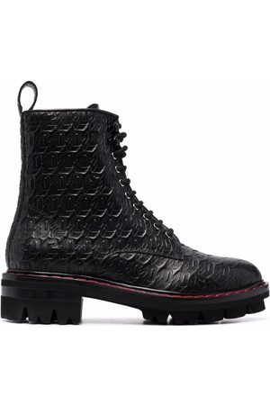 Dsquared2 Mujer Botas y Botines - Monogram lace-up leather boots
