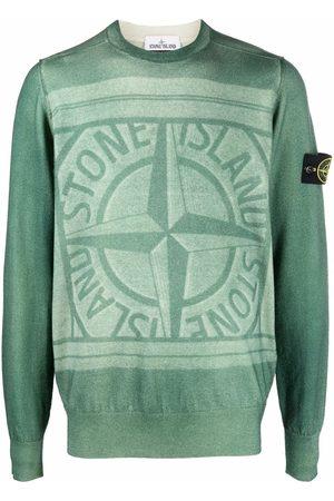 Stone Island Hombre Suéteres cerrados - Compass motif crew-neck jumper
